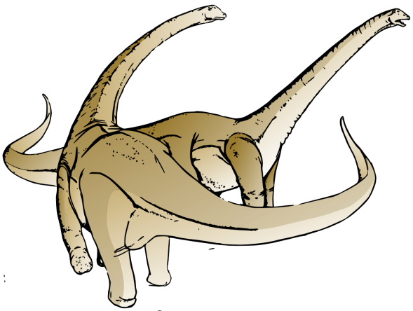 Dinosaur Alamosaurus clip art