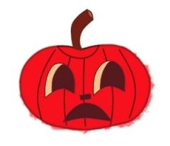 Pumpkin images clip art, red